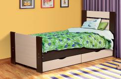 Кровать односпальная с ящиками 900 Тандем