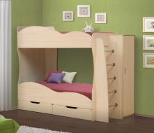Кровать детская 2-х ярусная Юность-2 со шкафом