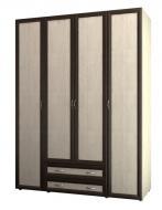 Шкаф 4-х дверный для одежды и белья с ящиками 6.18