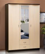 Шкаф 3-х дверный для платья и белья с ящиками и зеркалом