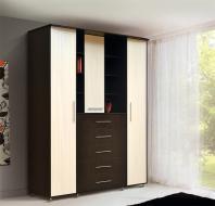 Шкаф 3-х дверный комбинированный с ящиками Людмила-3