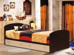 Кровать односпальная с ящиками 900