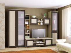 Мебельная стенка для гостиной Береста-1