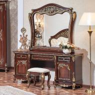 Туалетный стол с зеркалом и пуфом Даниэлла