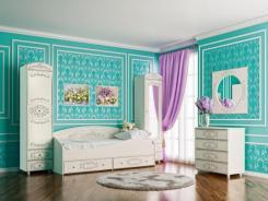 Детская спальня Каролина (патина) (компоновка 1)