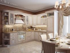 Кухня угловая Волхова (патина)