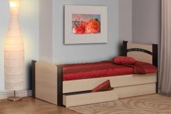 Кровать односпальная с ящиком 900х2000 Луна