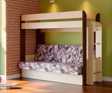 Кровать - чердак с диваном-кроватью Немо (без верхнего матраца)