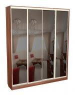 Шкаф-купе 4-х дверный глубокий с зеркалами С 64.20.04