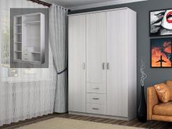 Шкаф 3-х дверный для платья и белья 1500