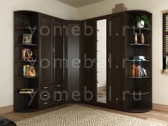 Мебельная стенка угловая в гостиную М-Сервис 2