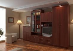 Мебельная стенка в гостиную Волхова-1