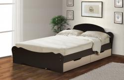 Кровать универсальная с низкой ножной спинкой и ящиками 1600