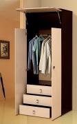 Распашной шкаф 2-х дверный с ящиками «Тандем» Т/ШПБ2-800/1