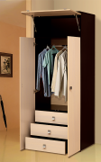 Шкаф 2-х дверный с ящиками «Тандем» Т/ШПБ2-800/1