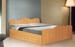 Кровать полутораспальная с ящиками 1400