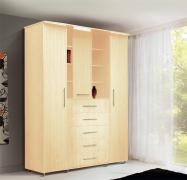 Шкаф 3-х дверный комбинированный с ящиками от спального гарнитура «Людмила-3»