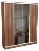 Шкаф-купе 4-х створчатый глубокий с 2-мя зеркальными дверьми 64.20.03