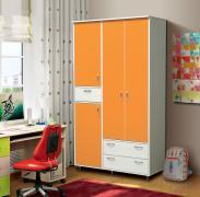 """Шкаф 4-х дверный для платья и белья с ящиками """"Алиса-3"""""""