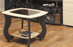 Столик журнальный «Сатурн-М01» со стеклом
