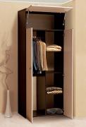 Распашной шкаф 2-х дверный для платья и белья «Тандем» Т/ШПБ2-800/2