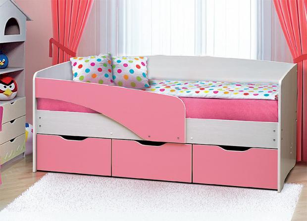 Кровать с ящиками «Софа-4» от набора мебели «Алиса-2» - фото №1