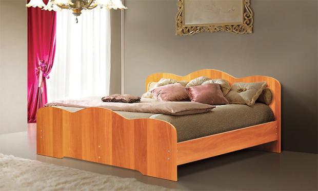 Двуспальная кровать от спального гарнитура Людмила-1 - фото №6