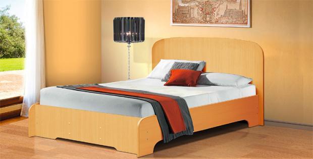 Кровать полутораспальная 1400 Людмила-3 - фото №6