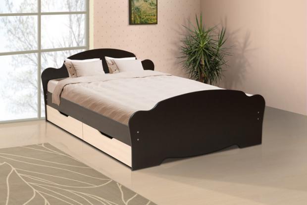 Кровать двуспальная универсальная с ящиками 1600 - фото №1