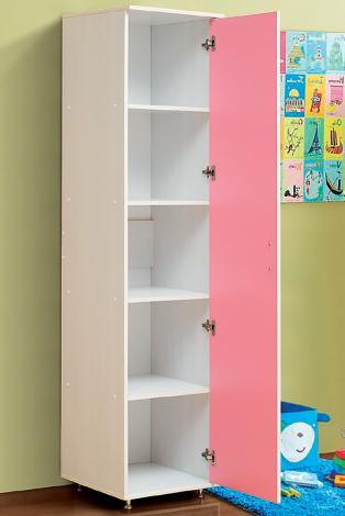 Шкаф-пенал 1-но дверный бельевой от набора детской мебели «Алиса-2» - фото №1