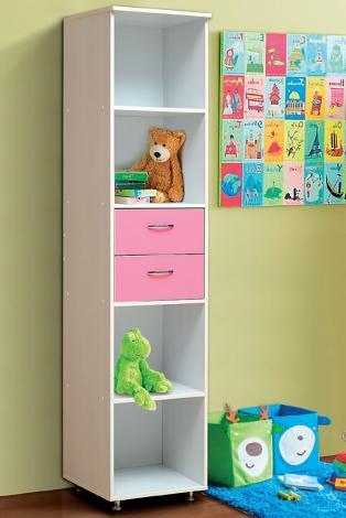 Шкаф-пенал открытый с 2-мя ящиками от набора детской мебели «Алиса-2» - фото №1
