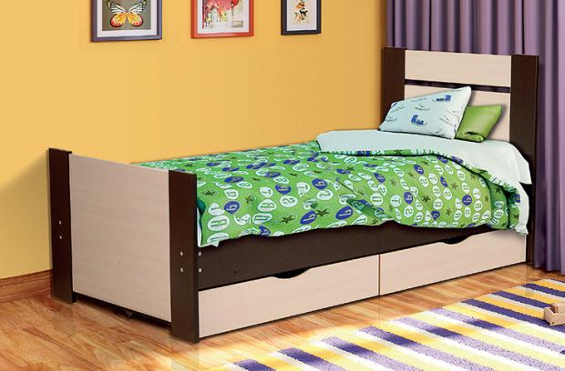 Кровать односпальная с ящиками 900 Тандем - фото №1