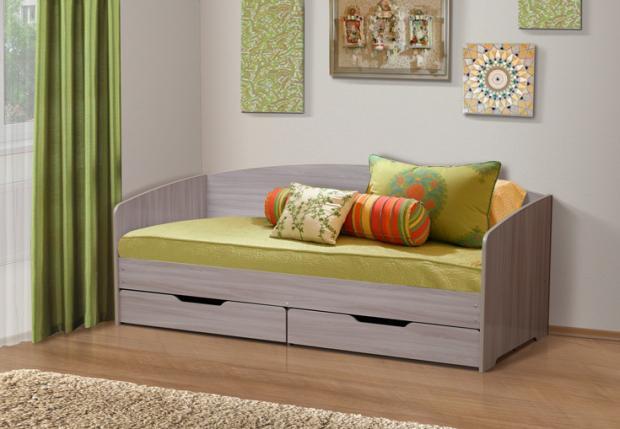 Кровать детская с ящиками Софа-1 - фото №1