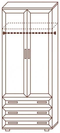 Шкаф для одежды № 100 - фото №2
