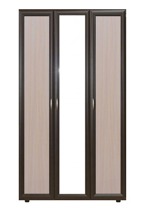 Шкаф трехдверный с зеркалом № 105 - фото №6
