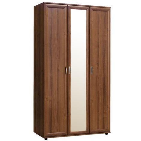 Шкаф трехдверный с зеркалом № 105 - фото №1