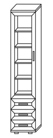 Шкаф - пенал с 3 ящиками  № 112 - фото №3