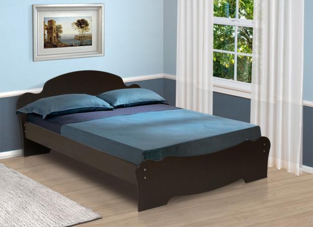 Кровать двуспальная универсальная с низкой ножной спинкой 1600 - фото №1