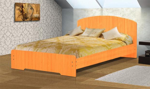 Кровать полутораспальная с низкой ножной спинкой 1400 Людмила-2 - фото №6