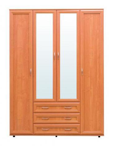 Шкаф 4-х дверный с зеркалами № 148 - фото №1