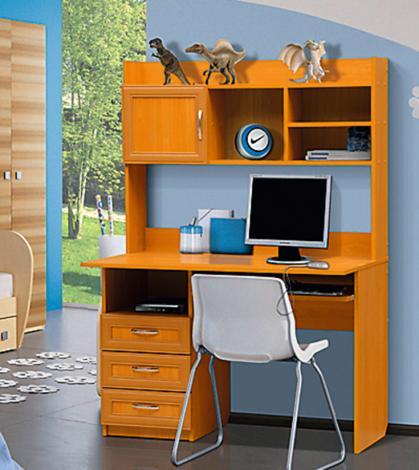 Стол компьютерный с надстройкой - 1 (рамка МДФ) - фото №2