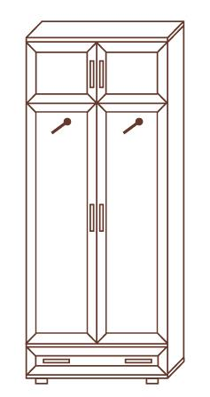 Шкаф для одежды № 156 - фото №2