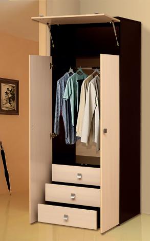 Распашной шкаф 2-х дверный с ящиками «Тандем» Т/ШПБ2-800/1 - фото №1