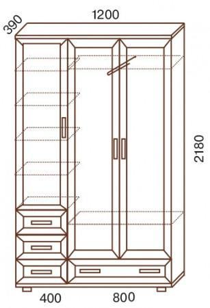 Шкаф - прихожая Универсал с выдвижной штангой № 161 - фото №2