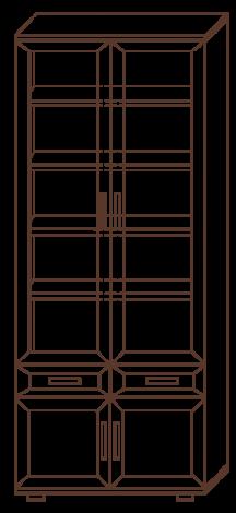 Книжный шкаф № 169 - фото №3