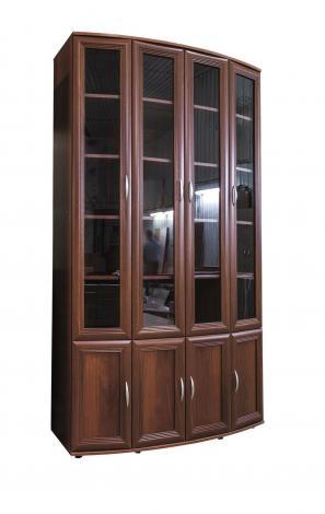 Книжный шкаф эркерный большой №174 - фото №1