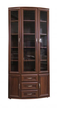 Книжный шкаф эркерный малый №175 - фото №1