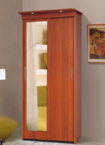 Шкаф-купе 2-х дверный платяной с зеркалом - фото №1