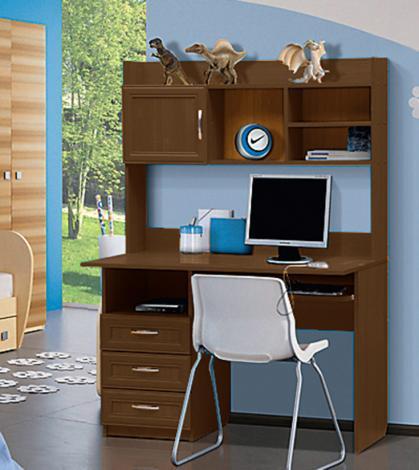Стол компьютерный с надстройкой - 1 (рамка МДФ) - фото №4
