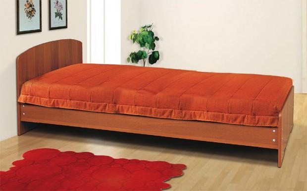 Кровать односпальная с низкой ножной спинкой 900 - фото №1